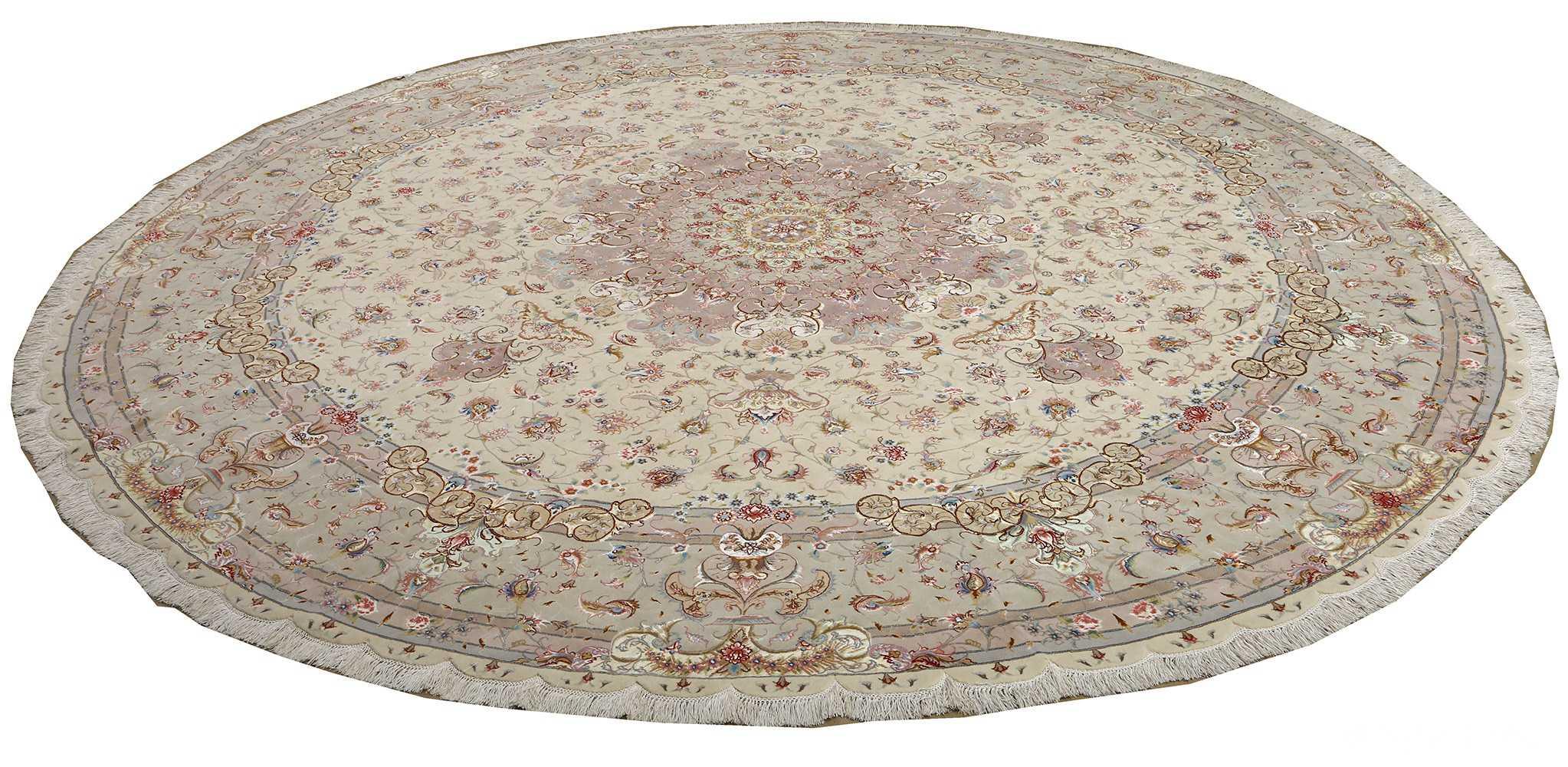 round vintage tabriz persian rug 51123 whole Nazmiyal