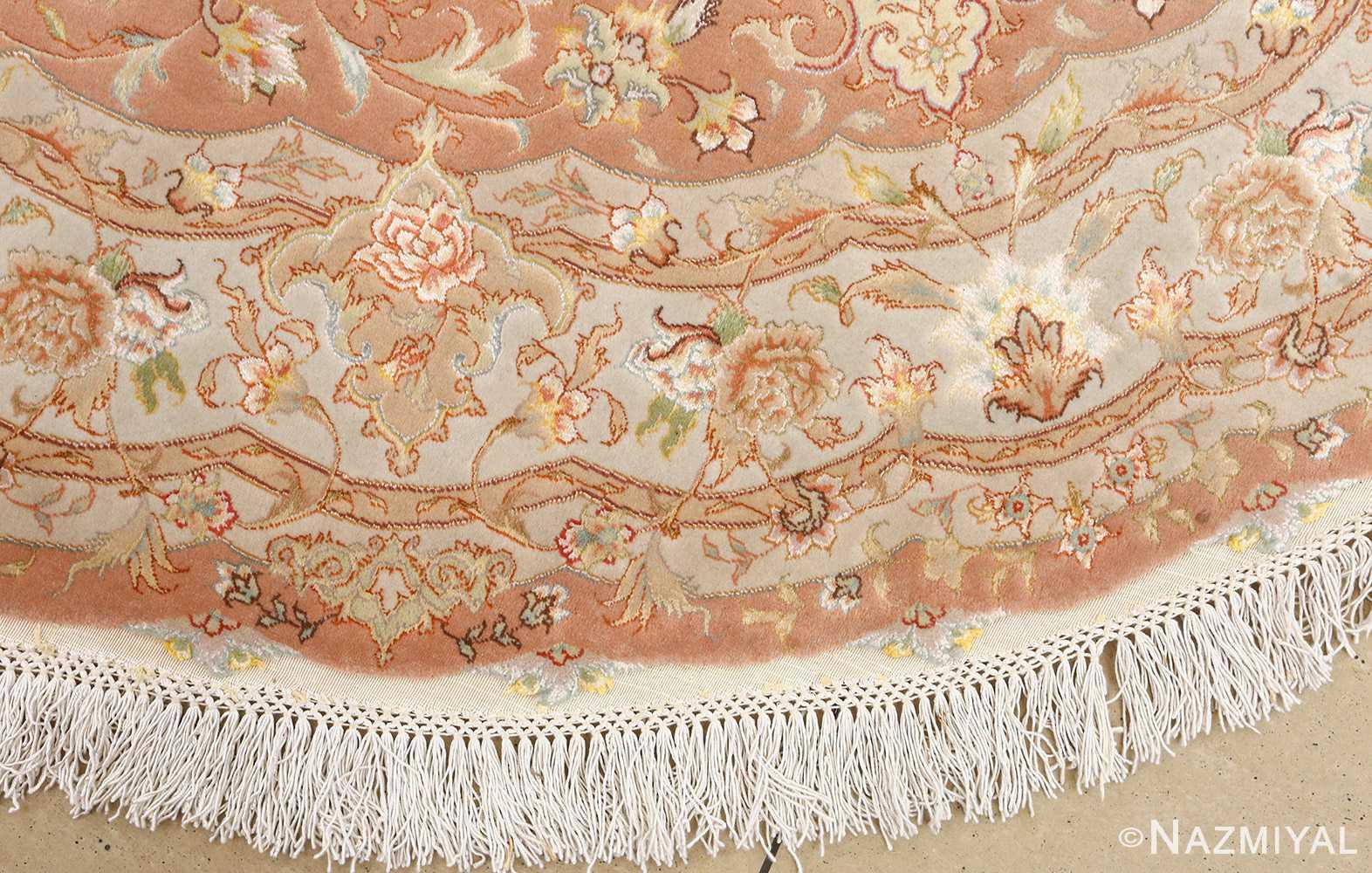 round vintage tabriz persian rug 51134 border Nazmiyal