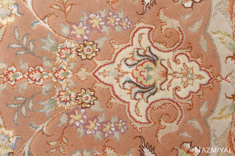 round vintage tabriz persian rug 51134 design Nazmiyal