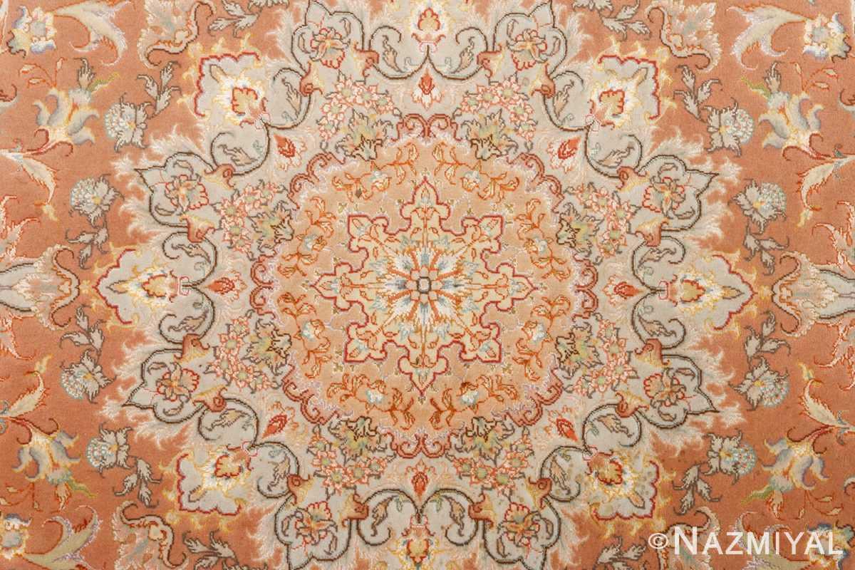 round vintage tabriz persian rug 51134 medallion Nazmiyal