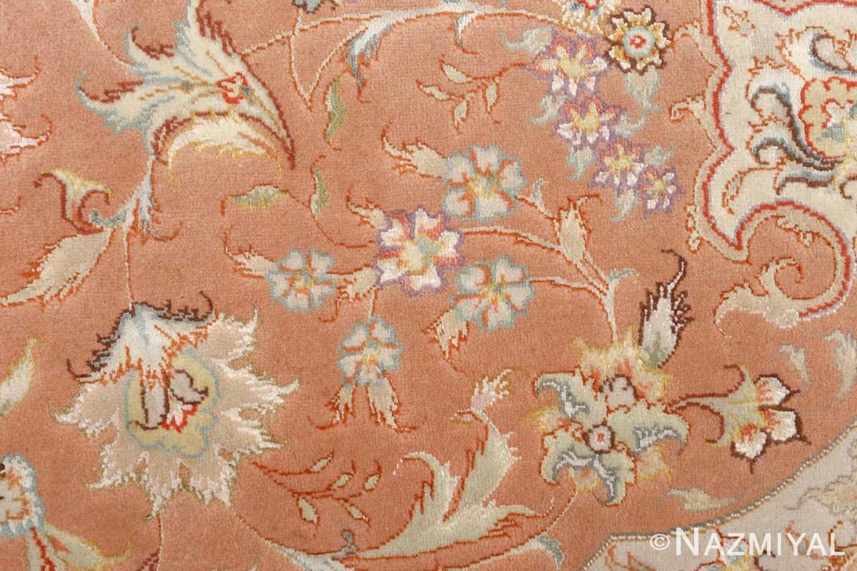 round vintage tabriz persian rug 51134 orange Nazmiyal