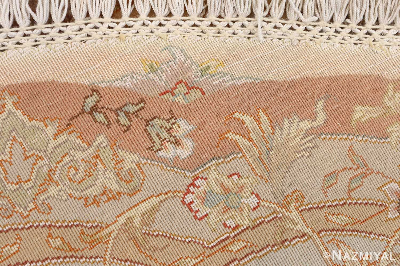 round vintage tabriz persian rug 51134 weave Nazmiyal