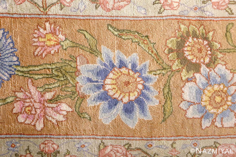 silk shahsavarpour design vintage tabriz persian rug 51162 blue Nazmiyal