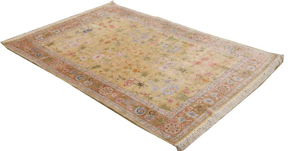 silk shahsavarpour design vintage tabriz persian rug 51162 whole Nazmiyal