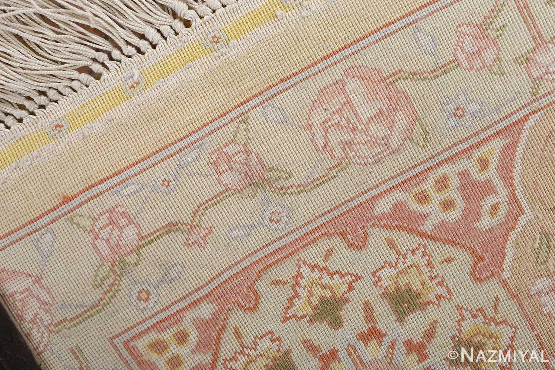 silk shahsavarpour design vintage tabriz persian rug 51162 pile Nazmiyal