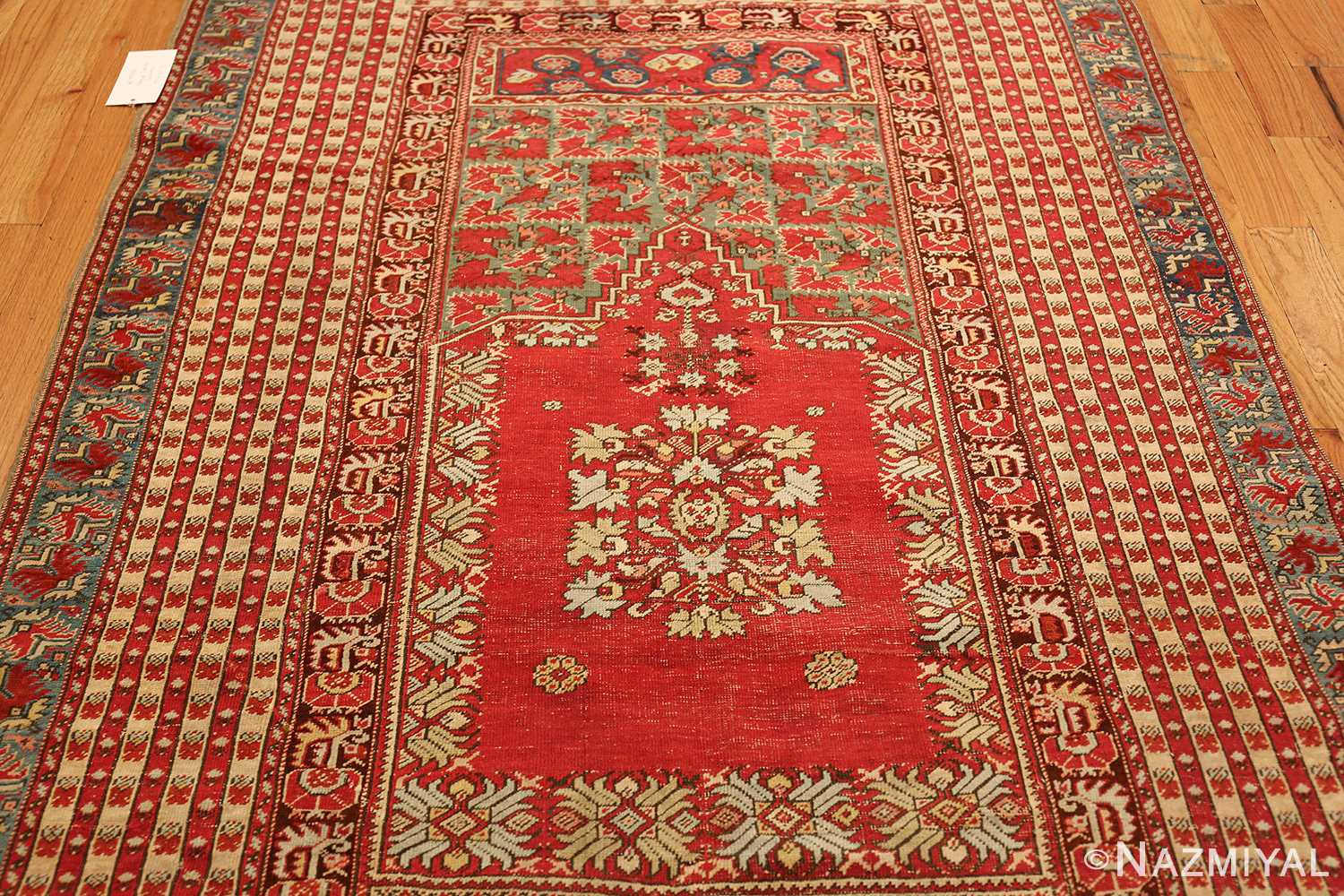 small size antique ghoirdes turkish rug 49286 top Nazmiyal