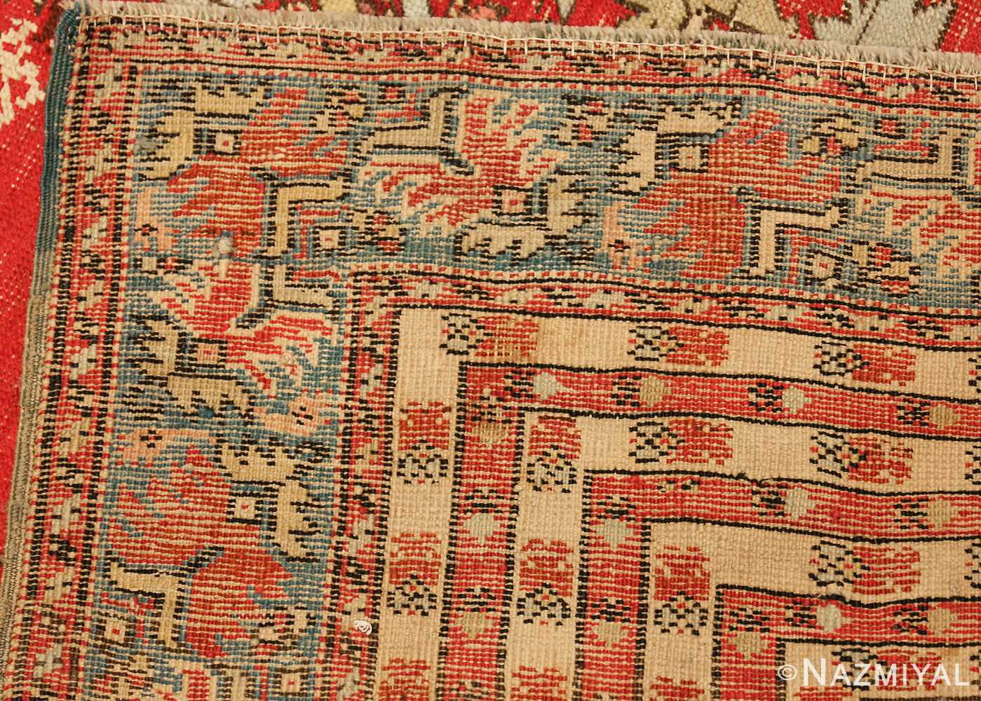 small size antique ghoirdes turkish rug 49286 weave Nazmiyal