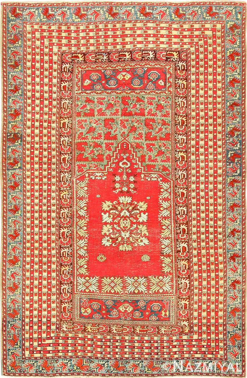 small size antique ghiordes turkish rug 49286 Nazmiyal