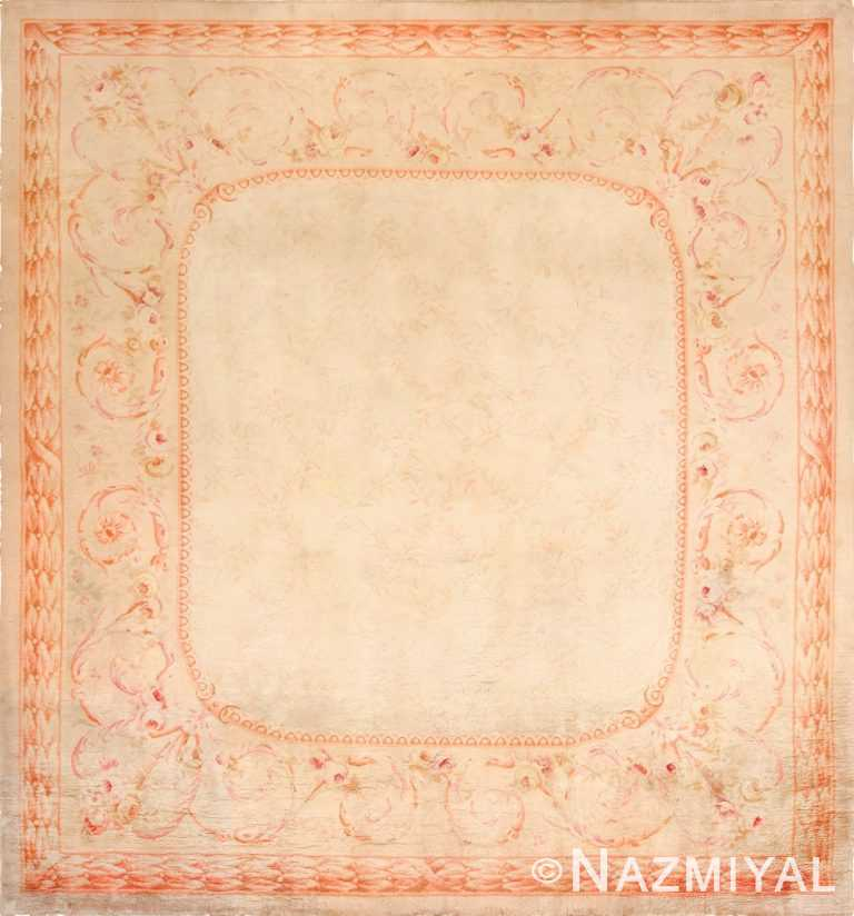 square antique french savonnerie rug 48999 Nazmiyal