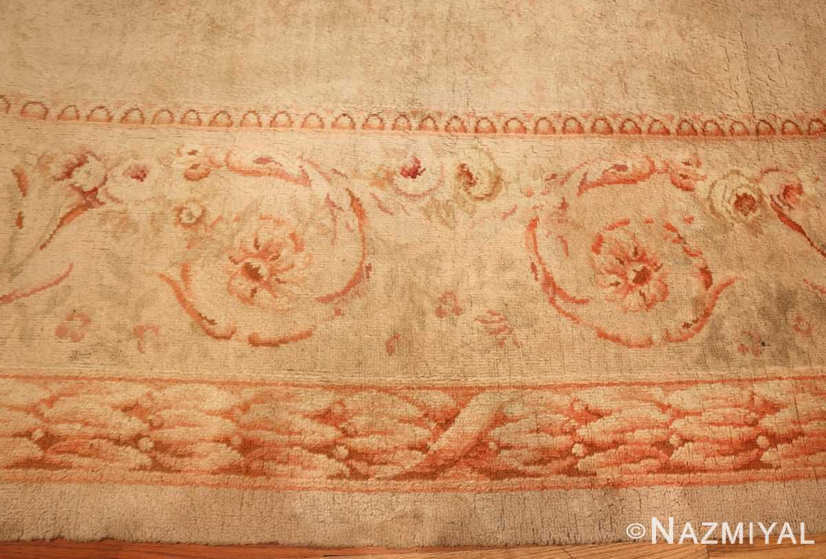 square antique french savonnerie rug 48999 border Nazmiyal
