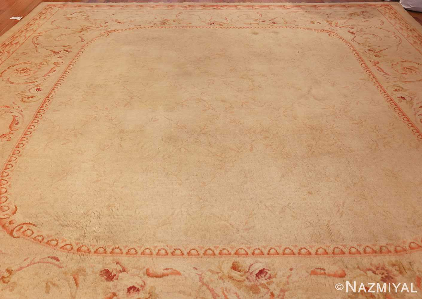 square antique french savonnerie rug 48999 full Nazmiyal