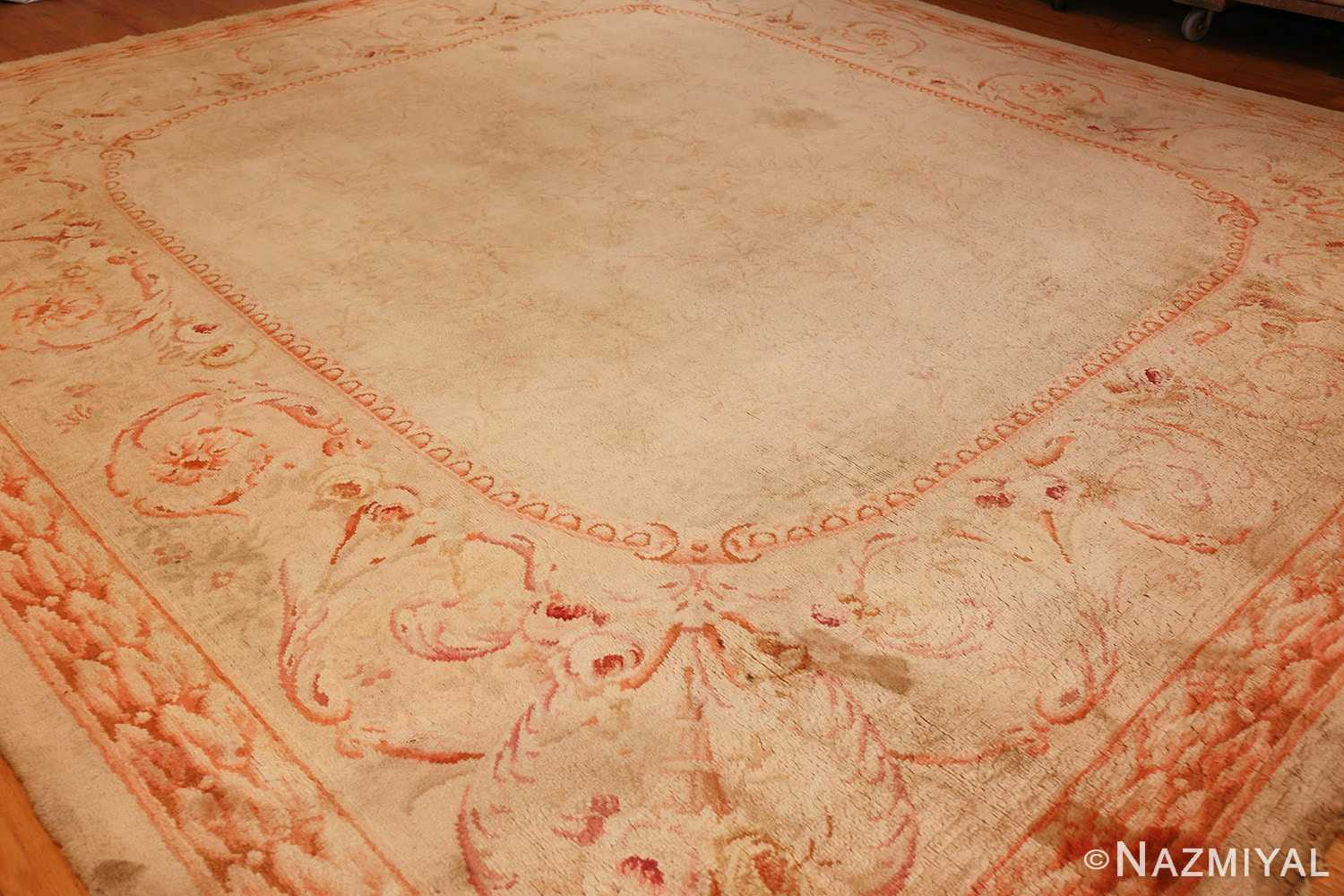 square antique french savonnerie rug 48999 side Nazmiyal