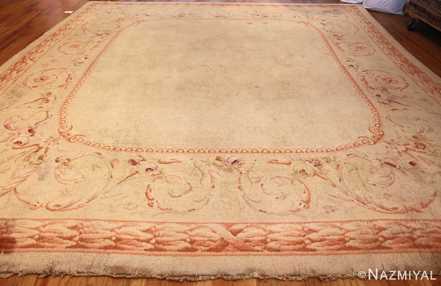 square antique french savonnerie rug 48999 whole Nazmiyal