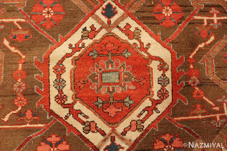 square small size antique serapi persian rug 49355 center Nazmiyal