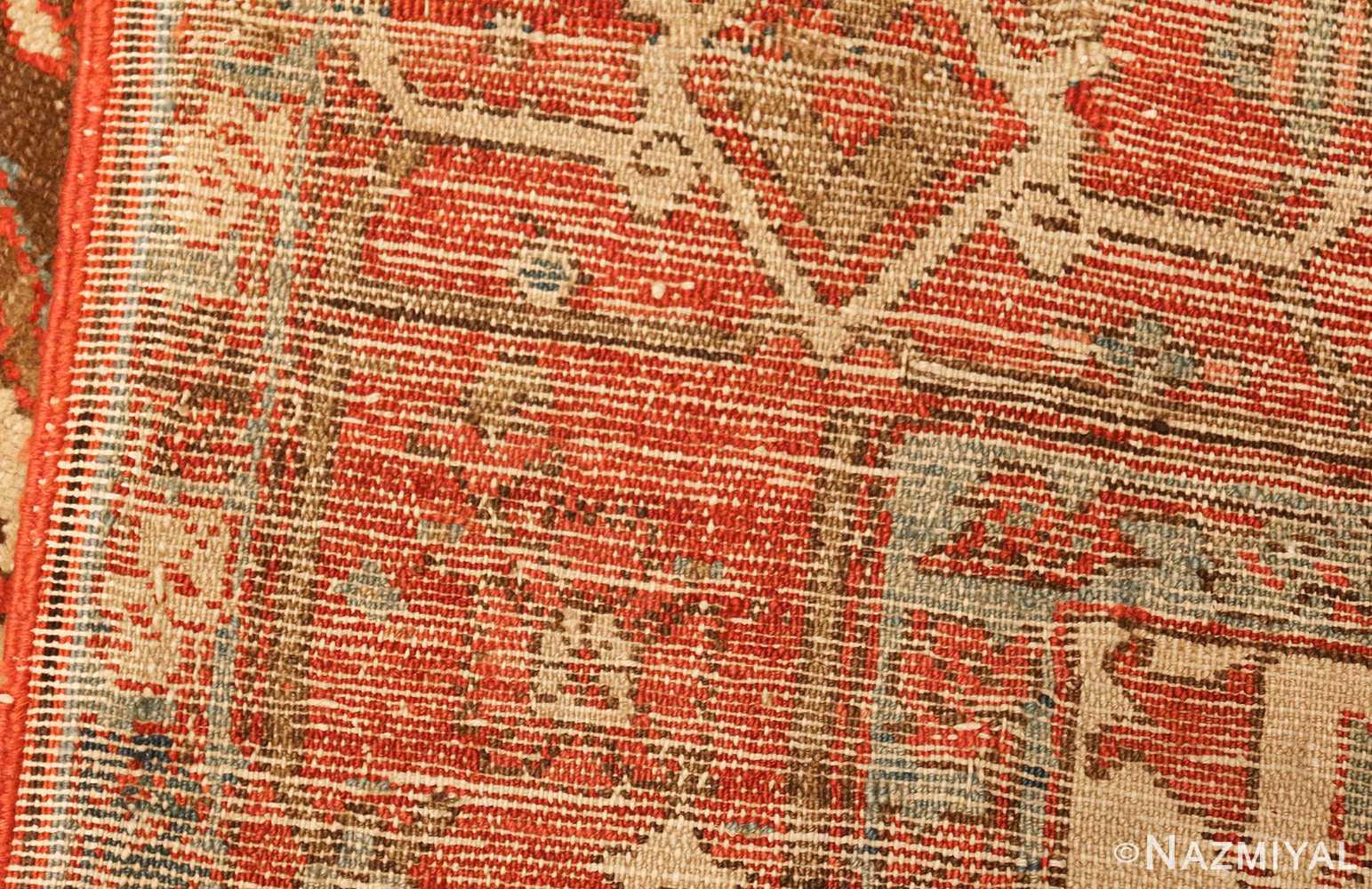 square small size antique serapi persian rug 49355 weave Nazmiyal