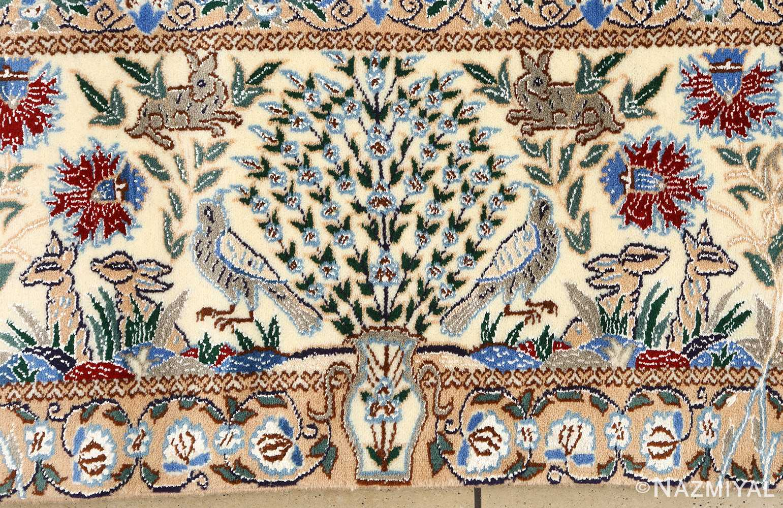 tree of life design vintage nain persian rug 51156 border Nazmiyal