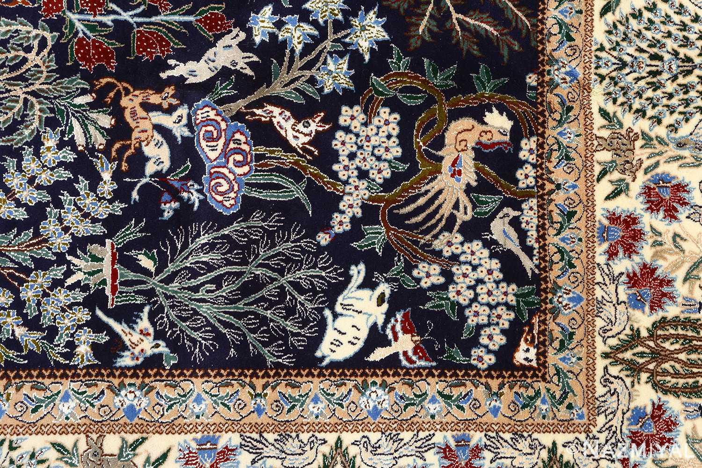 Tree of Life Design Vintage Nain Persian Rug 51156 Heart Nazmiyal