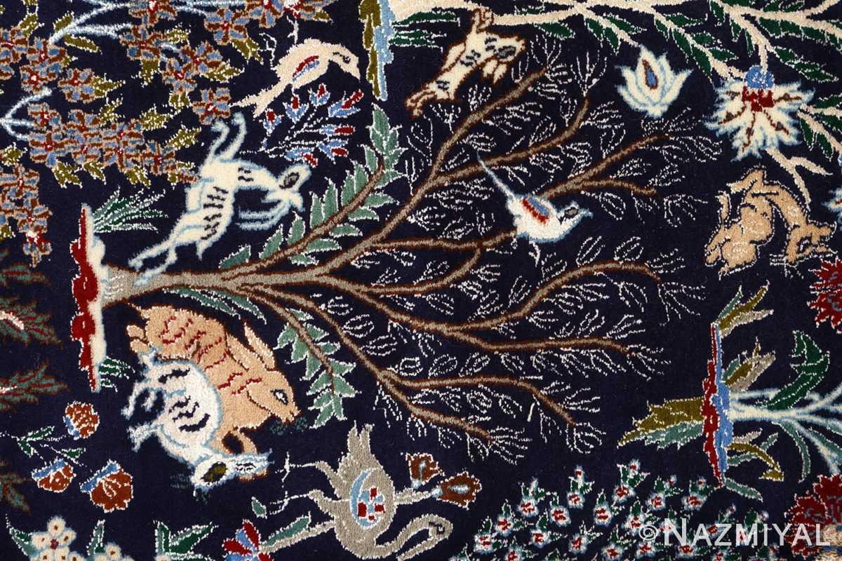 tree of life design vintage nain persian rug 51156 tree Nazmiyal