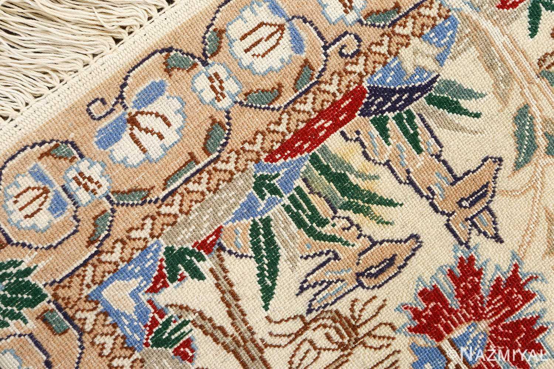 tree of life design vintage nain persian rug 51156 weave Nazmiyal
