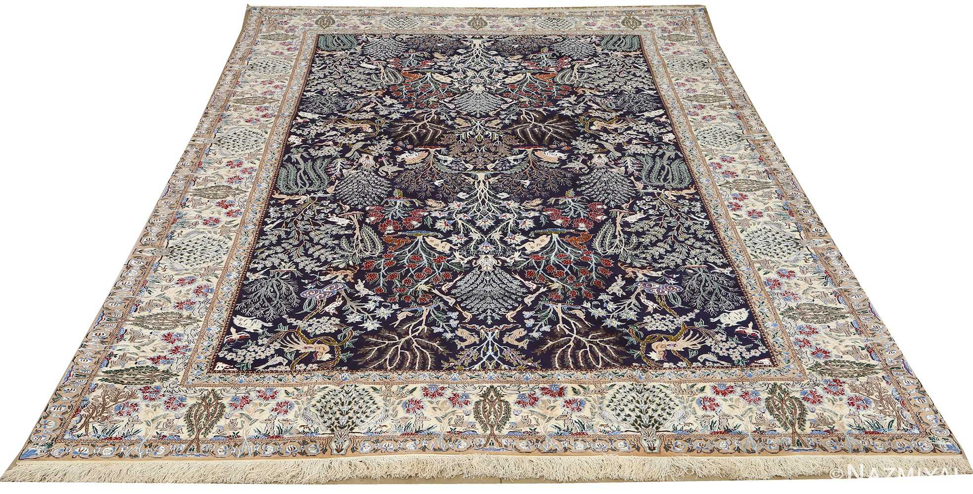 Intricate Tree Of Life Vintage Nain Persian Rug 51156 By