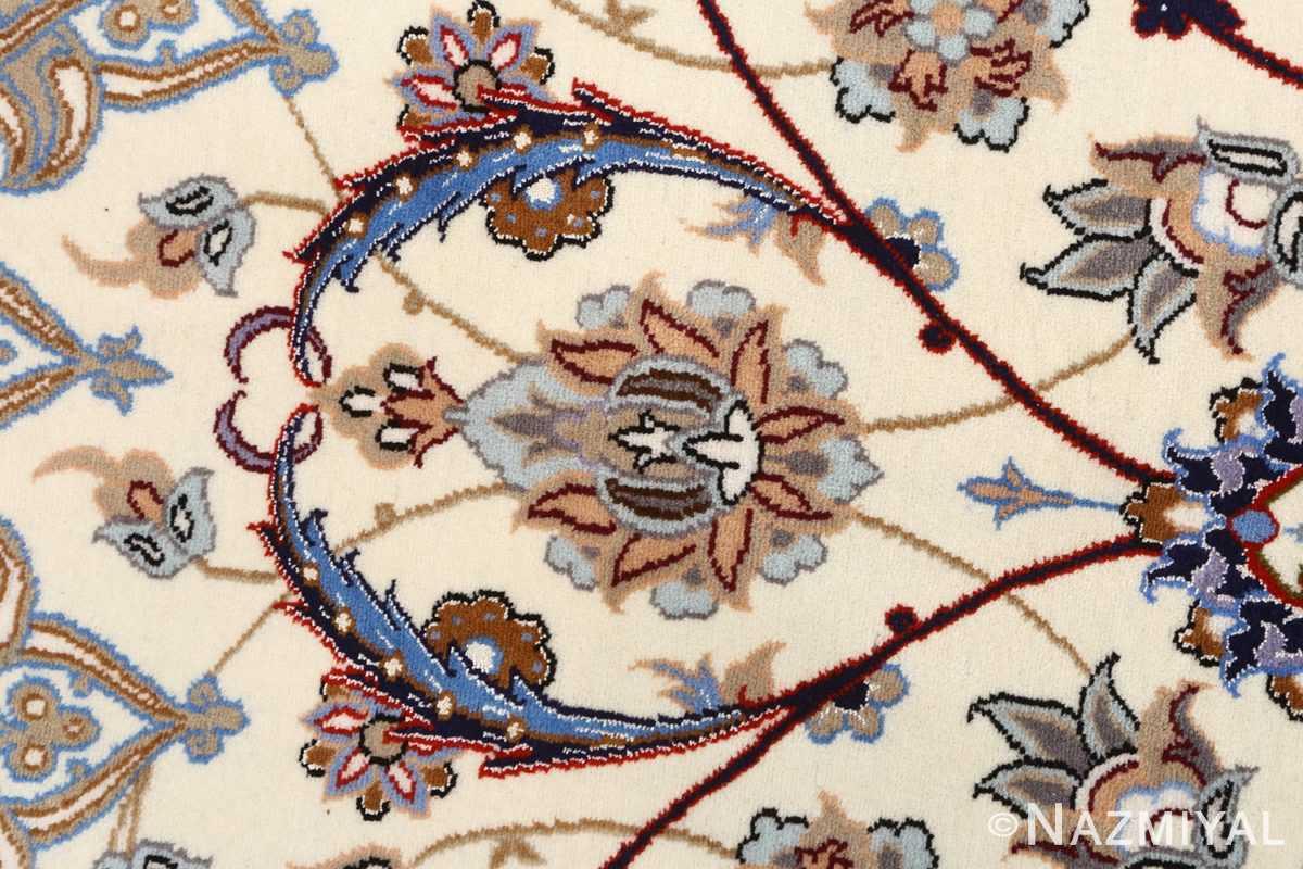 vintage isfahan persian rug 51140 blue Nazmiyal