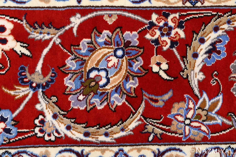 vintage isfahan persian rug 51140 border Nazmiyal