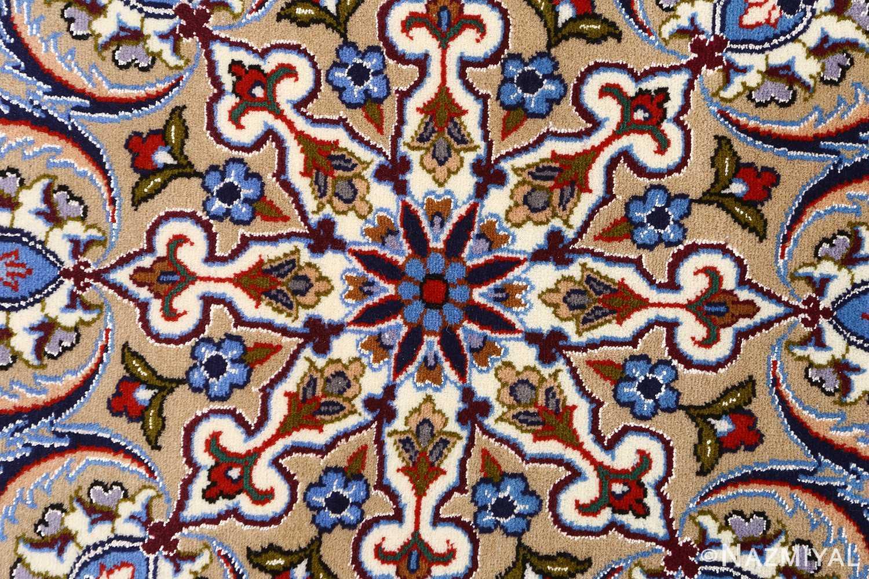 vintage isfahan persian rug 51140 center Nazmiyal
