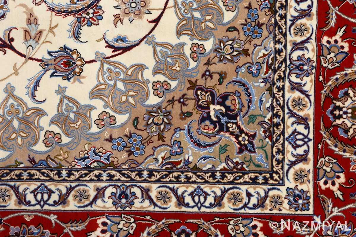 vintage isfahan persian rug 51140 design Nazmiyal