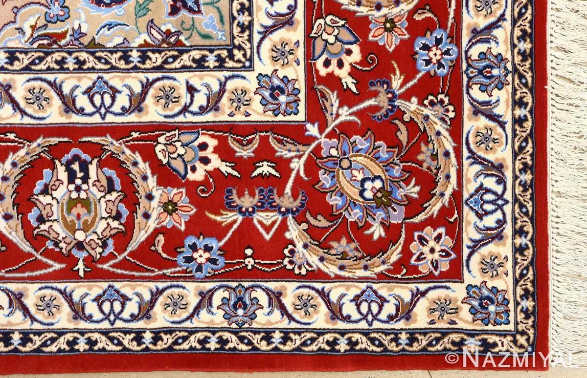 vintage isfahan persian rug 51140 part Nazmiyal
