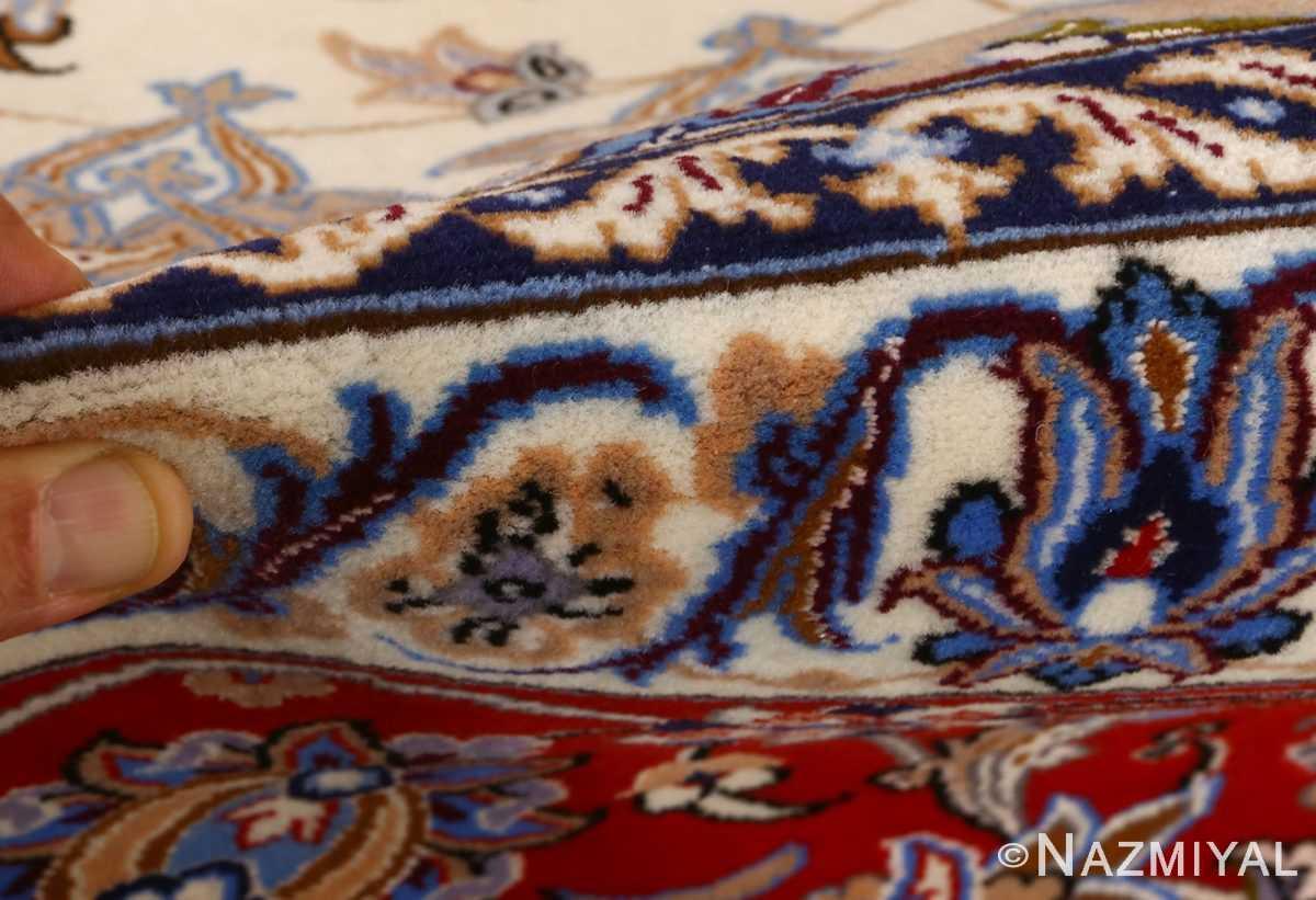 vintage isfahan persian rug 51140 pile Nazmiyal
