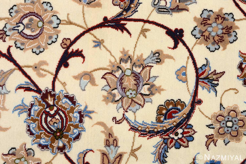 vintage isfahan persian rug 51140 scrolls Nazmiyal