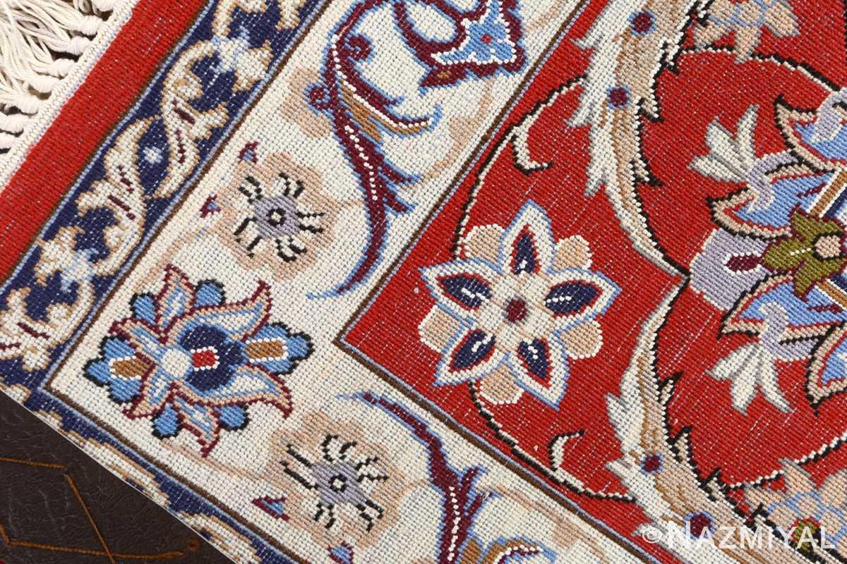 vintage isfahan persian rug 51140 weave Nazmiyal
