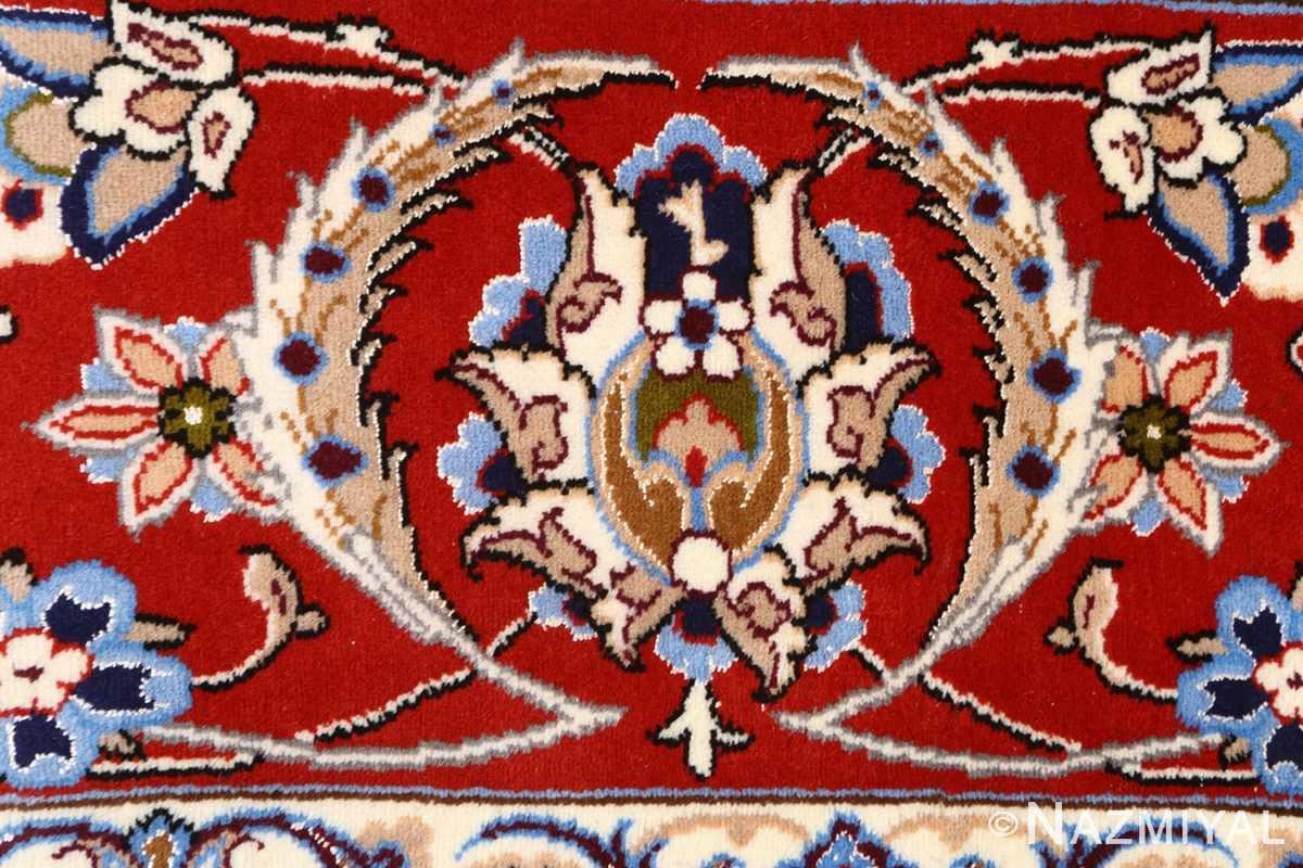 vintage isfahan persian rug 51140 white Nazmiyal