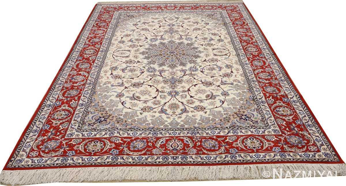 vintage isfahan persian rug 51140 whole Nazmiyal