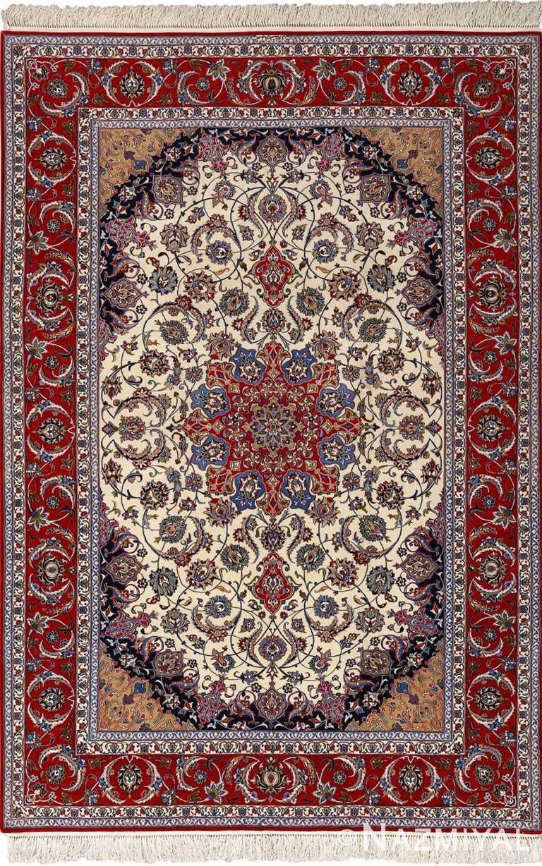 vintage isfahan persian rug 51154 Nazmiyal