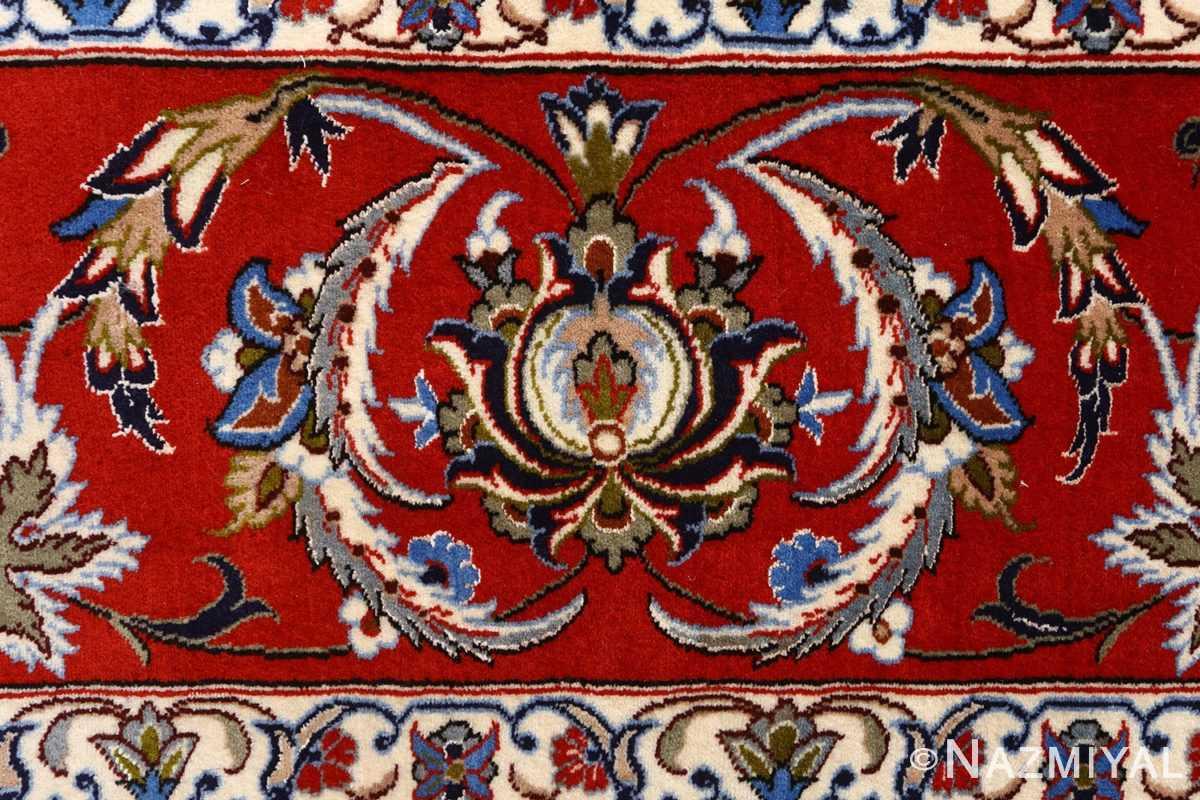vintage isfahan persian rug 51154 bouquet Nazmiyal