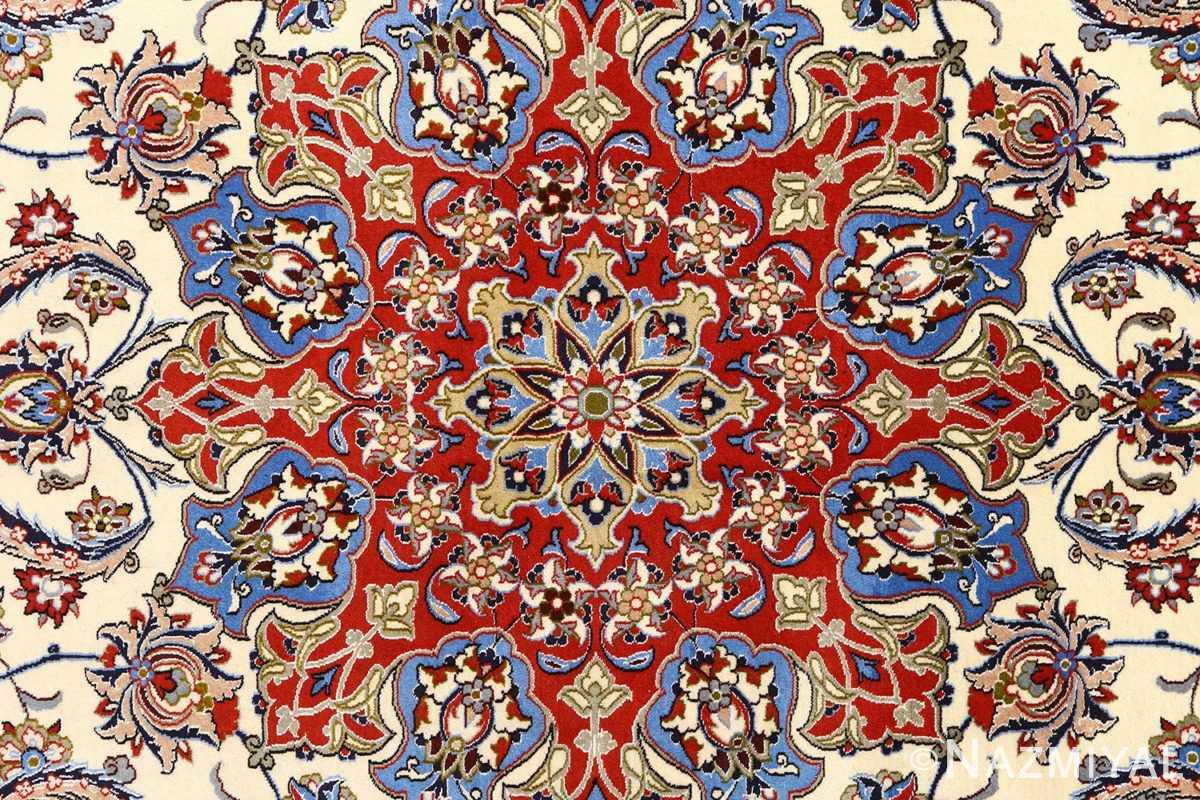 vintage isfahan persian rug 51154 part Nazmiyal