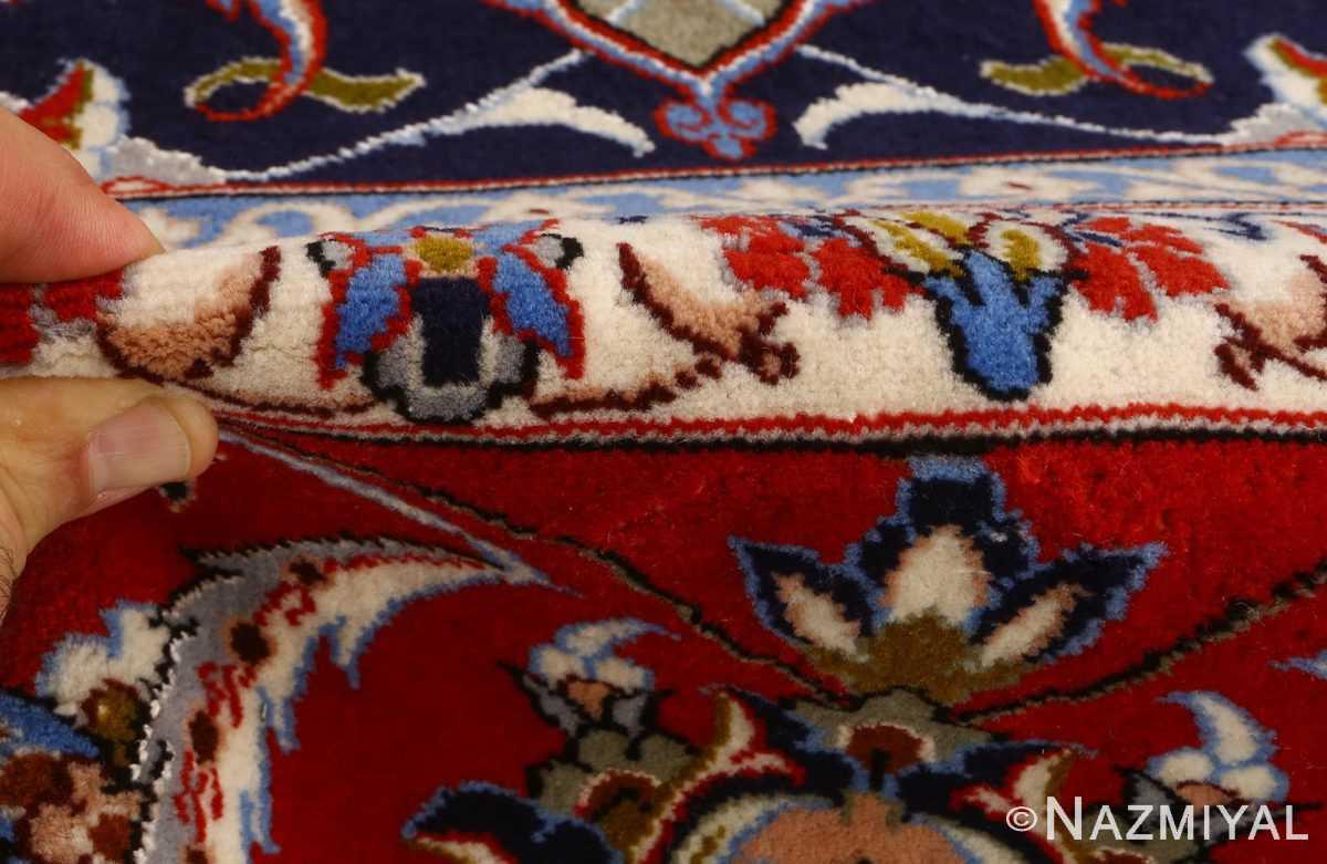 vintage isfahan persian rug 51154 pile Nazmiyal