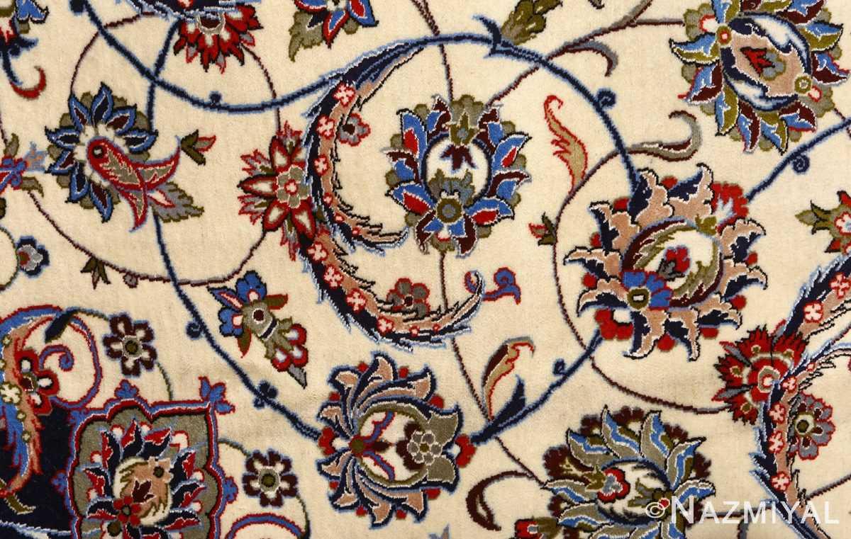 vintage isfahan persian rug 51154 scrolls Nazmiyal