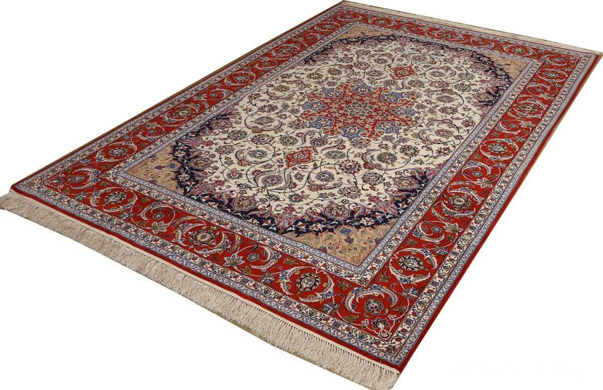 vintage isfahan persian rug 51154 side Nazmiyal