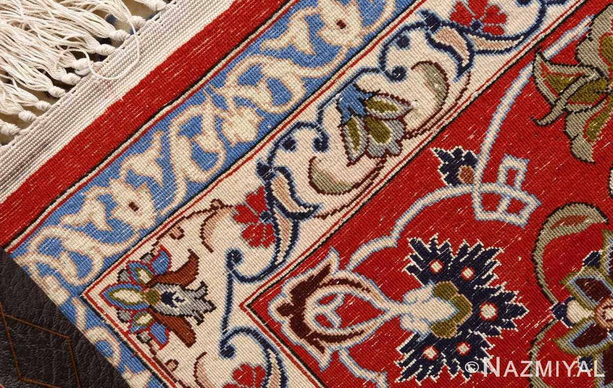 vintage isfahan persian rug 51154 weave Nazmiyal
