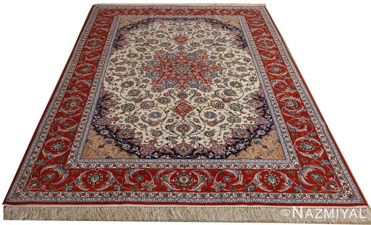 vintage isfahan persian rug 51154 whole Nazmiyal