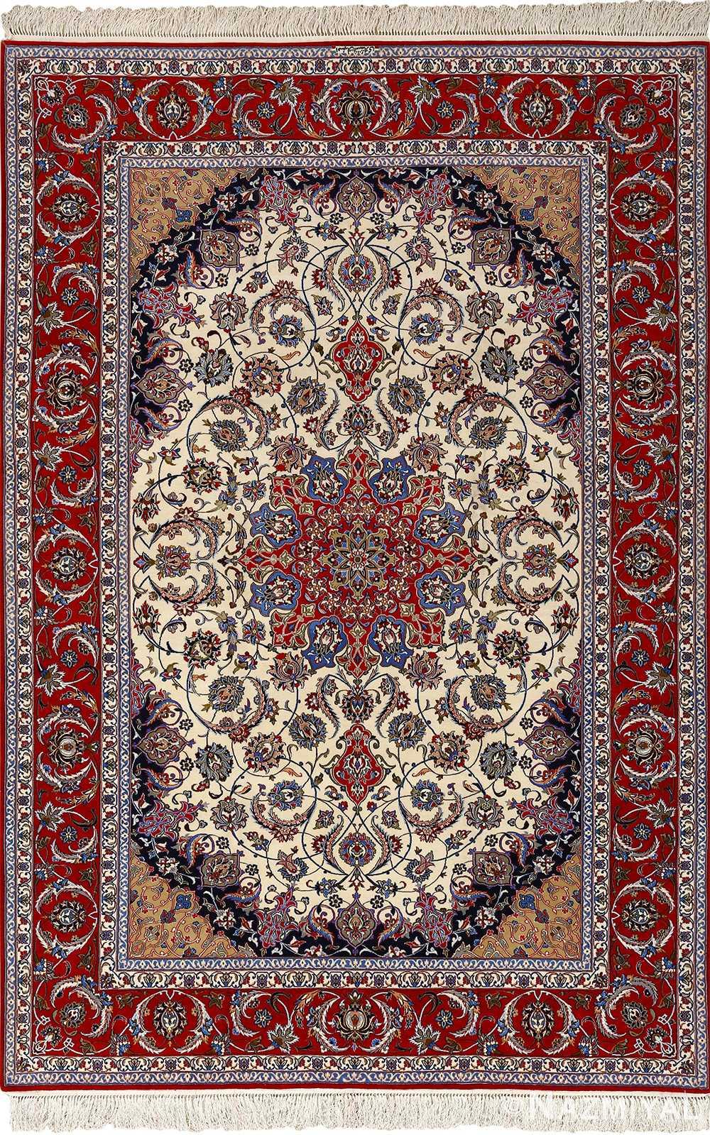 Intricate Vintage Isfahan Persian Rug 51154 By Nazmiyal