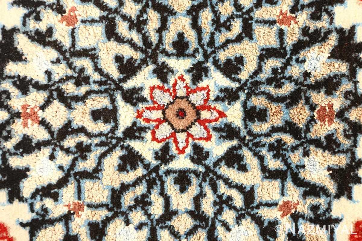 vintage ivory isfahan persian rug 51172 center Nazmiyal