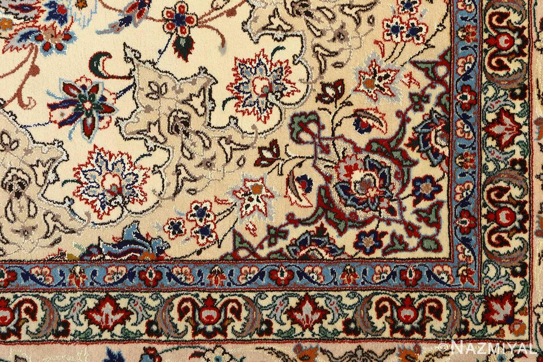 vintage ivory isfahan persian rug 51172 design Nazmiyal