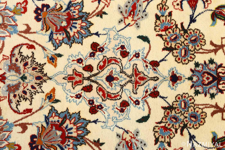 vintage ivory isfahan persian rug 51172 tiara Nazmiyal