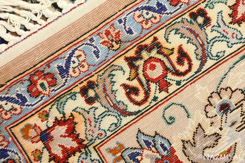 vintage ivory isfahan persian rug 51172 weave Nazmiyal