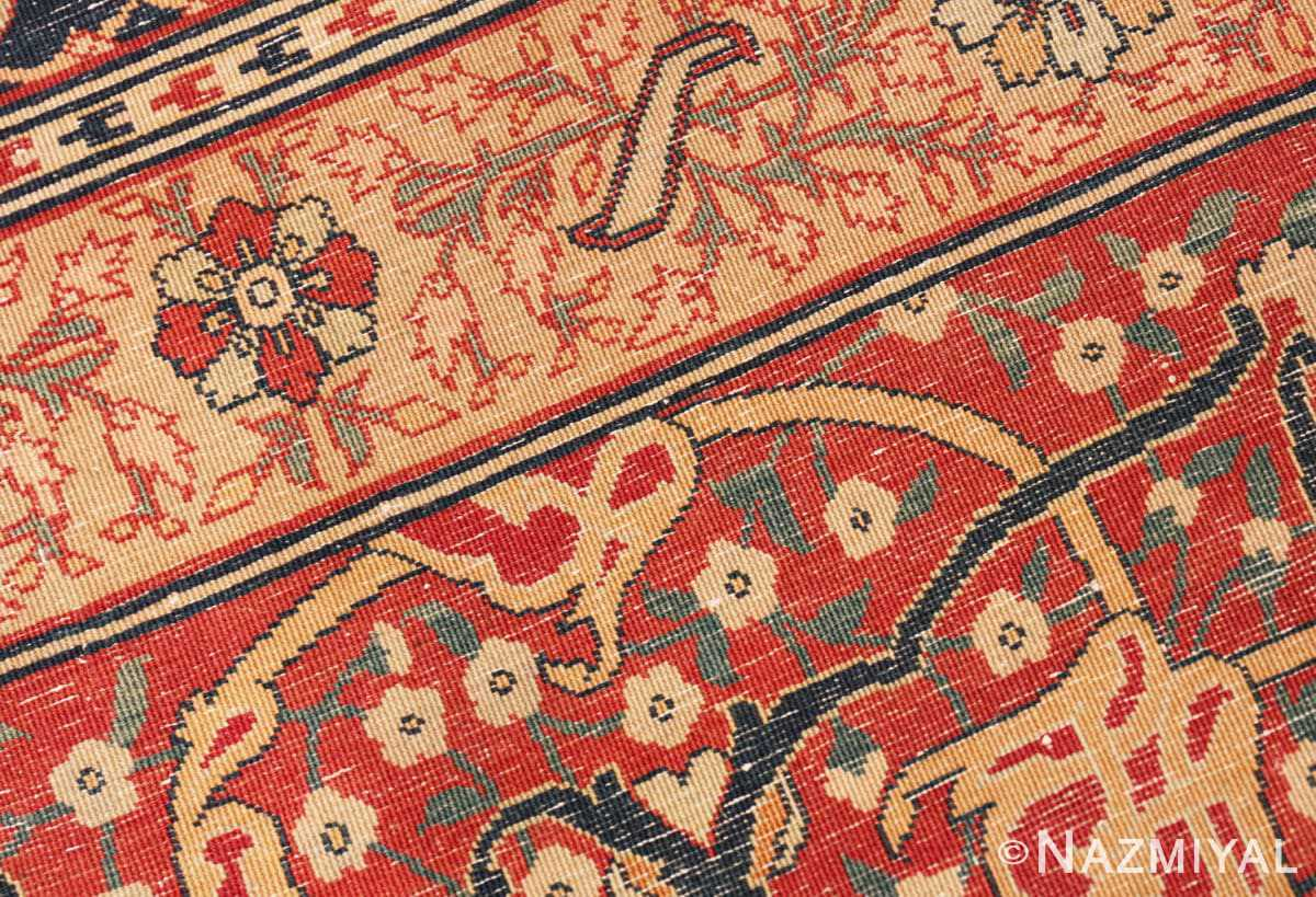 Weave detail Oversized Antique Tabriz Persian rug 49297 by Nazmiyal