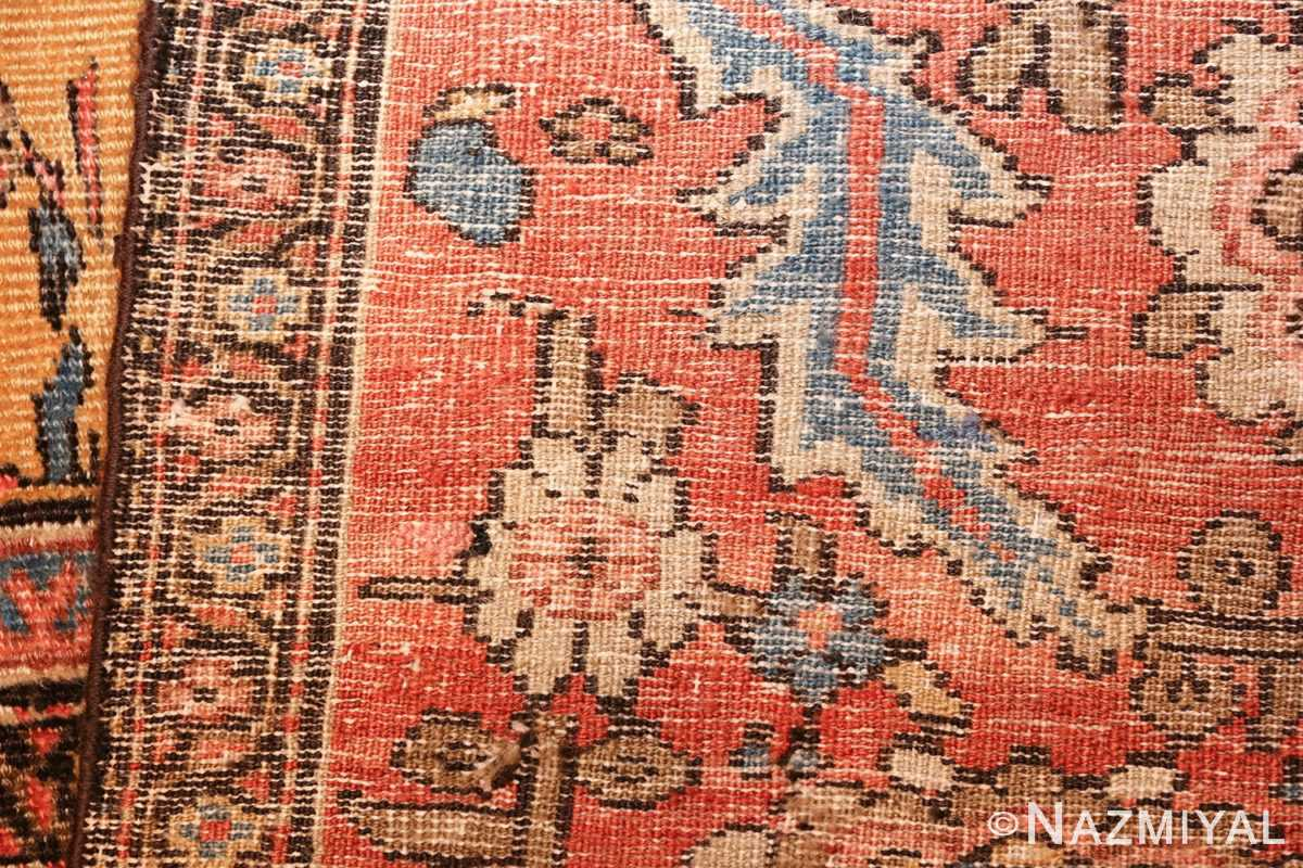 yellow background square antique sultanabad persian rug 49338 weave Nazmiyal