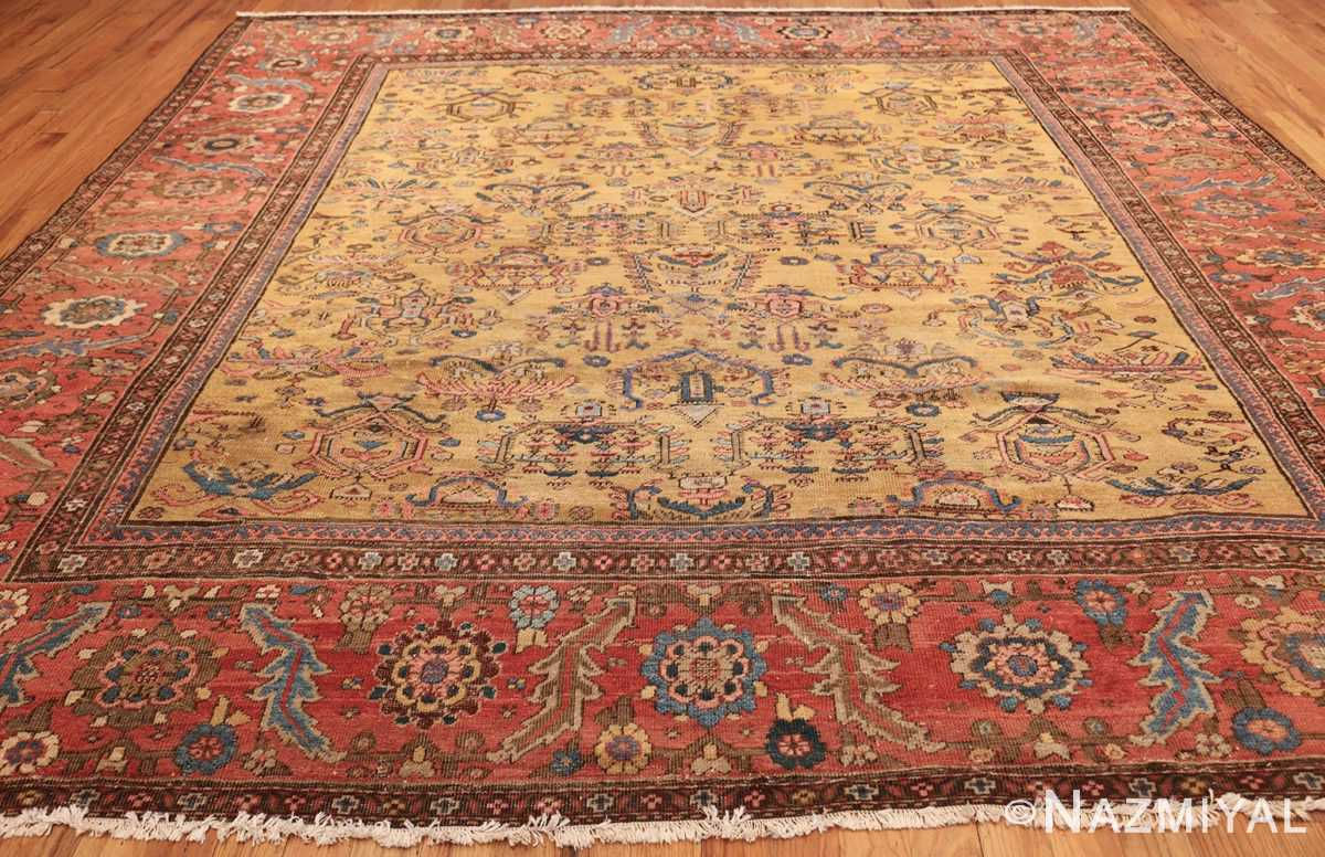 yellow background square antique sultanabad persian rug 49338 whole Nazmiyal
